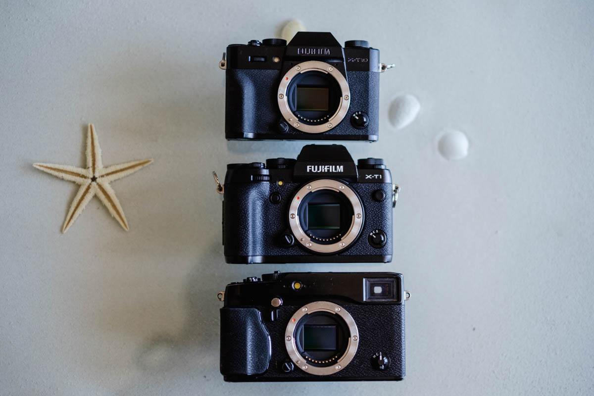 Top to -bottom: X-T10, X-T1, X-Pro 1