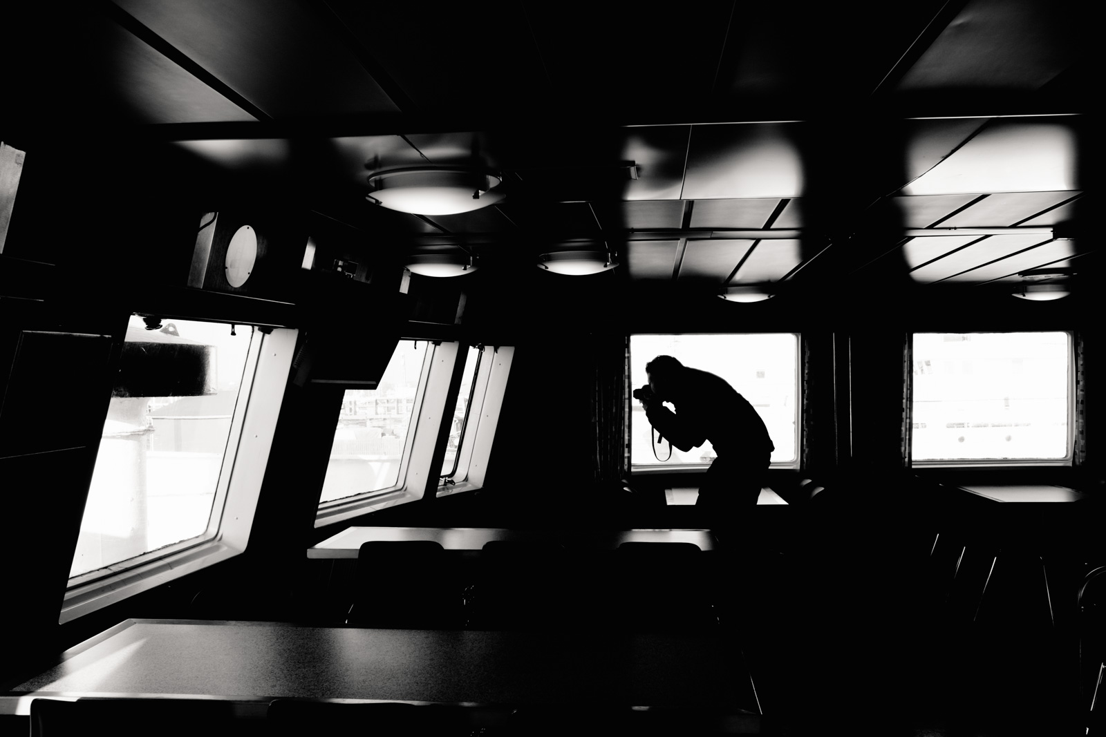 On the ferry from Faaborg to Ærø, Denmark. October 2016.