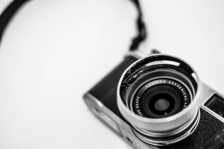 Tools of the trade: one of P-A's well used X100s.