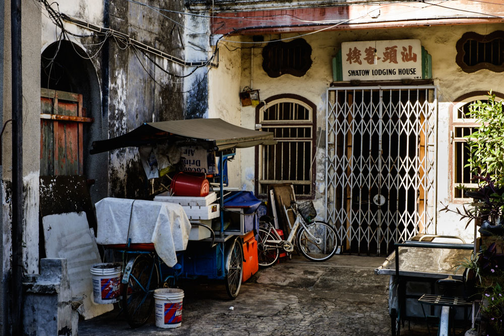 A Street Hawker's bike. Georgetown, Penang.