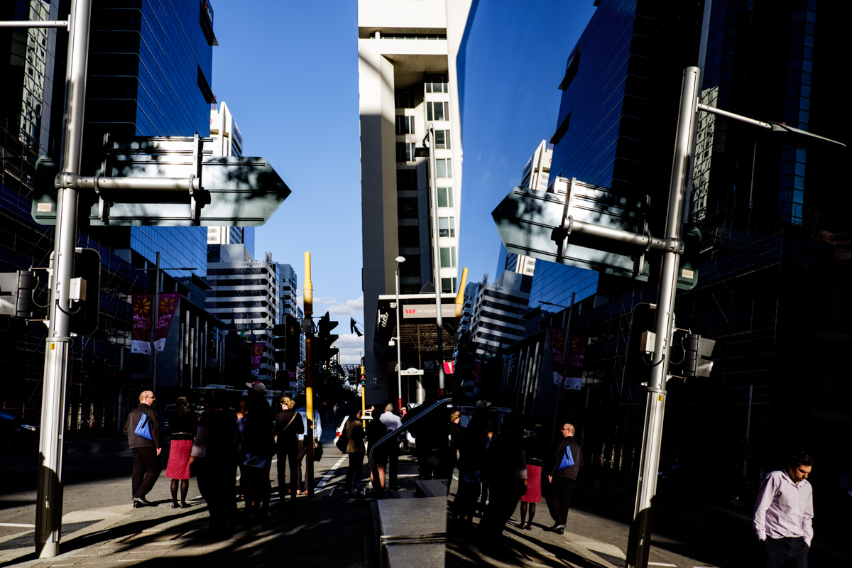 The financial district of Perth, Western Australia.