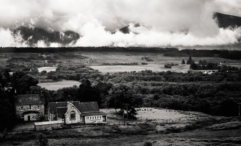 Clouds like fire. Somewhere in Scotland.