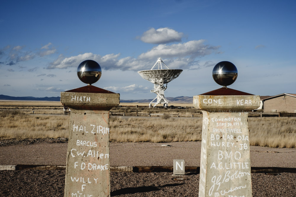 The Ron Bracewell radio sun dial, a 2013 addition to the VLA site