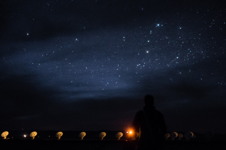 Flemming speaks to the stars at the Very Large Array. New Mexico, USA.