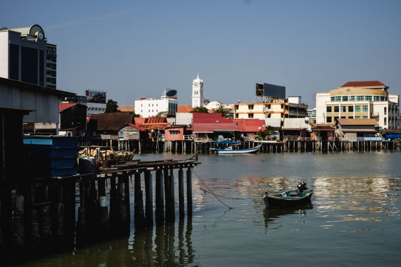 Looking out from Tan jetty. Georgetown, Penang.