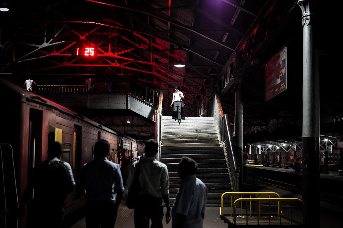 Colombo Fort train station. Colombo, Sri Lanka -- Fuji X-Pro 2, XF 35mm F2 | 1/115 sec, f2, ISO 5000