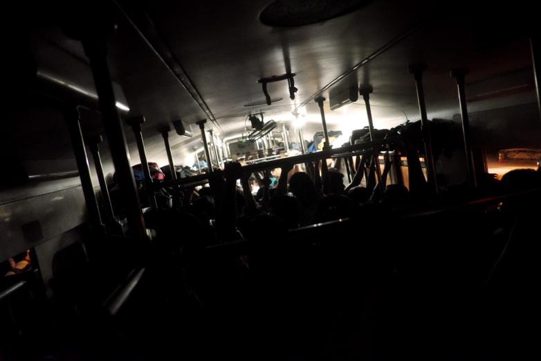 Aboard the train | X-Pro 2, XF 18mm F2 | 1/115 sec, f2, ISO 12,800