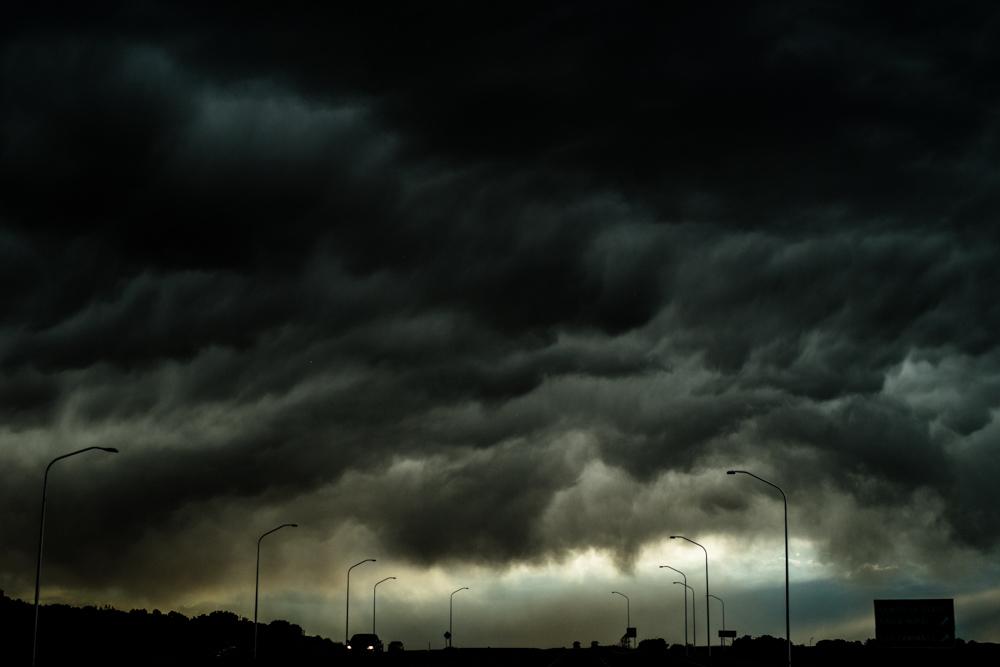 Storm, Santa Fe. New Mexico, USA.