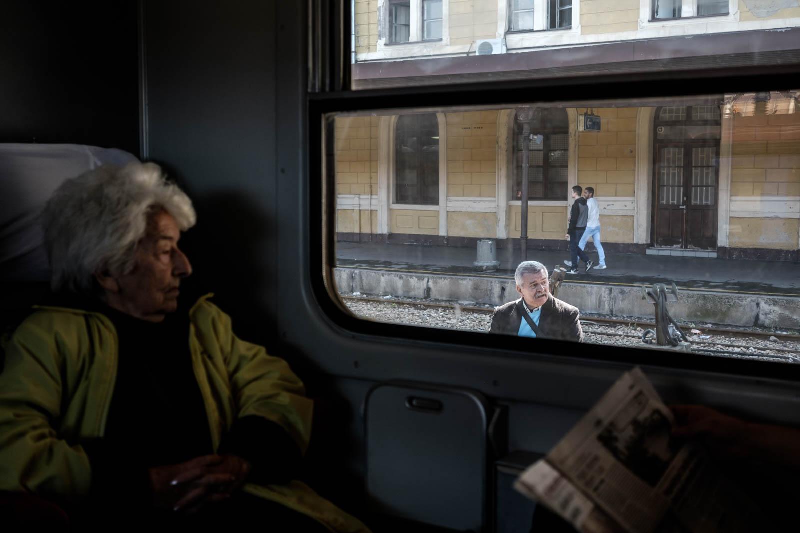 """""""Al aboard!"""" The beginning, at Belgrade station"""