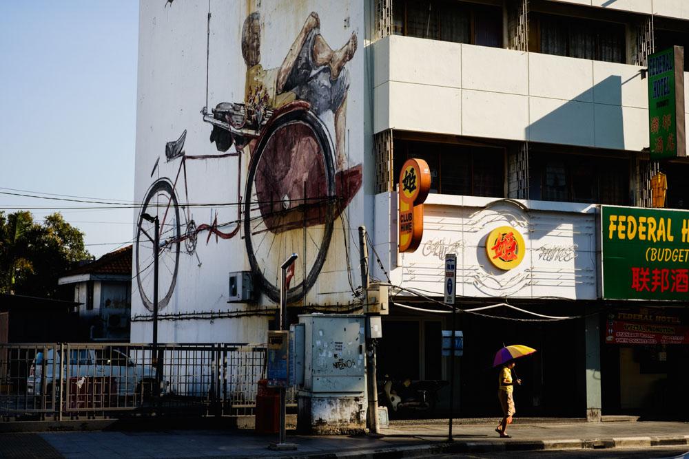 Trishaw Mural. Georgetown, Penang.