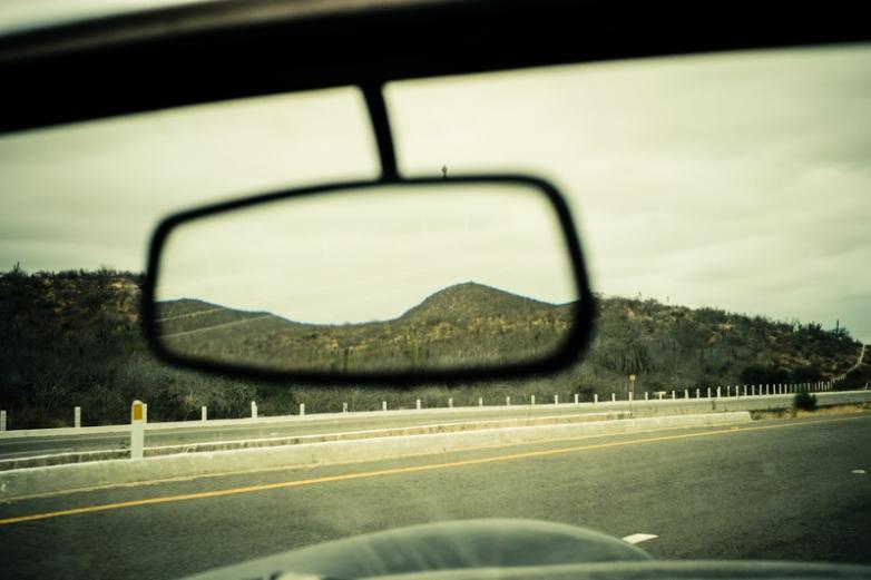 Highway to Todos Santos. Baja California Sur, Mexico.