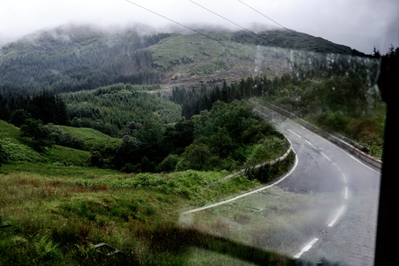 Road to nowhere, although I think were were either headed towards, or in the Scottish Highlands.