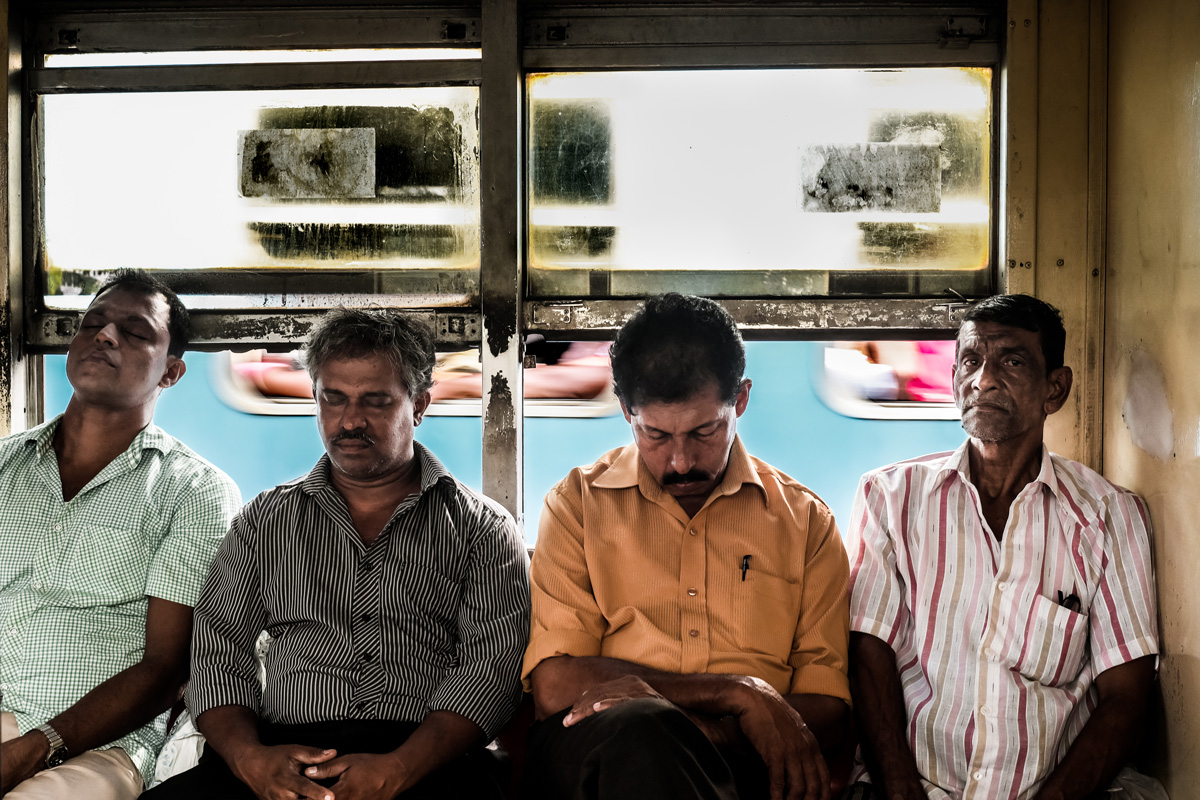 On the train. Colombo, Sri Lanka