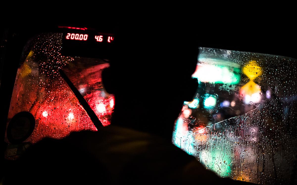 Catching a tuk tuk home in the rain. Colombo, Sri Lanka. Fujifilm X-T10, XF 35mm F2 | 1/170 sec, f2, ISO 5000