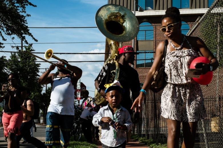Brass band at Lumin8 Festival Anacostia, Washington D.C., U.S.A.
