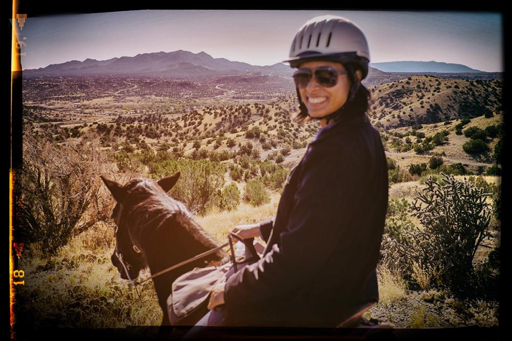 Charlene horse riding