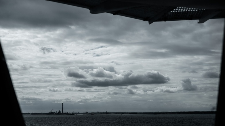 The first glimpse of Ireland, after 3-ish hours crossing the Irish sea on the ferry.
