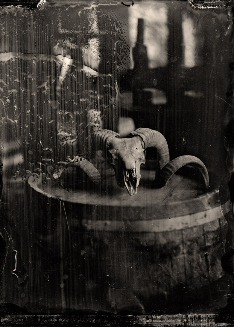 Attempt #1: Ram skull on barrel