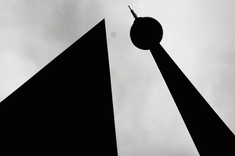 The famous TV tower... with what looks like a big serving of sensor dust.