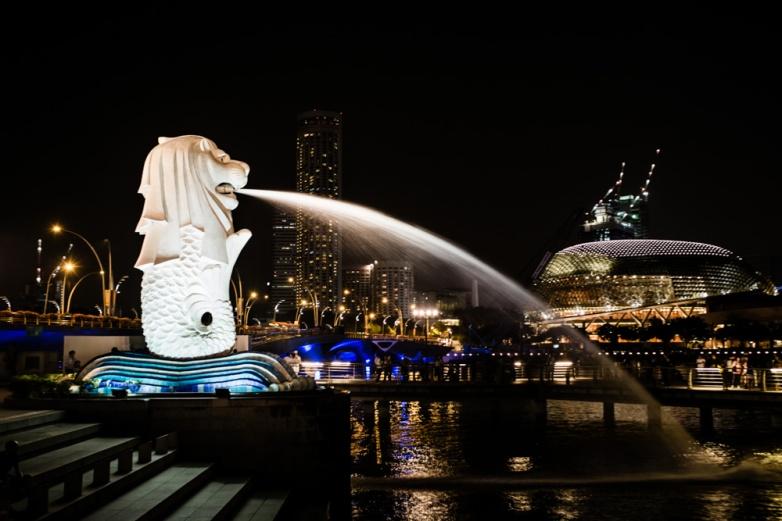 The Merlion - mythical catfish that gave Singapore its name